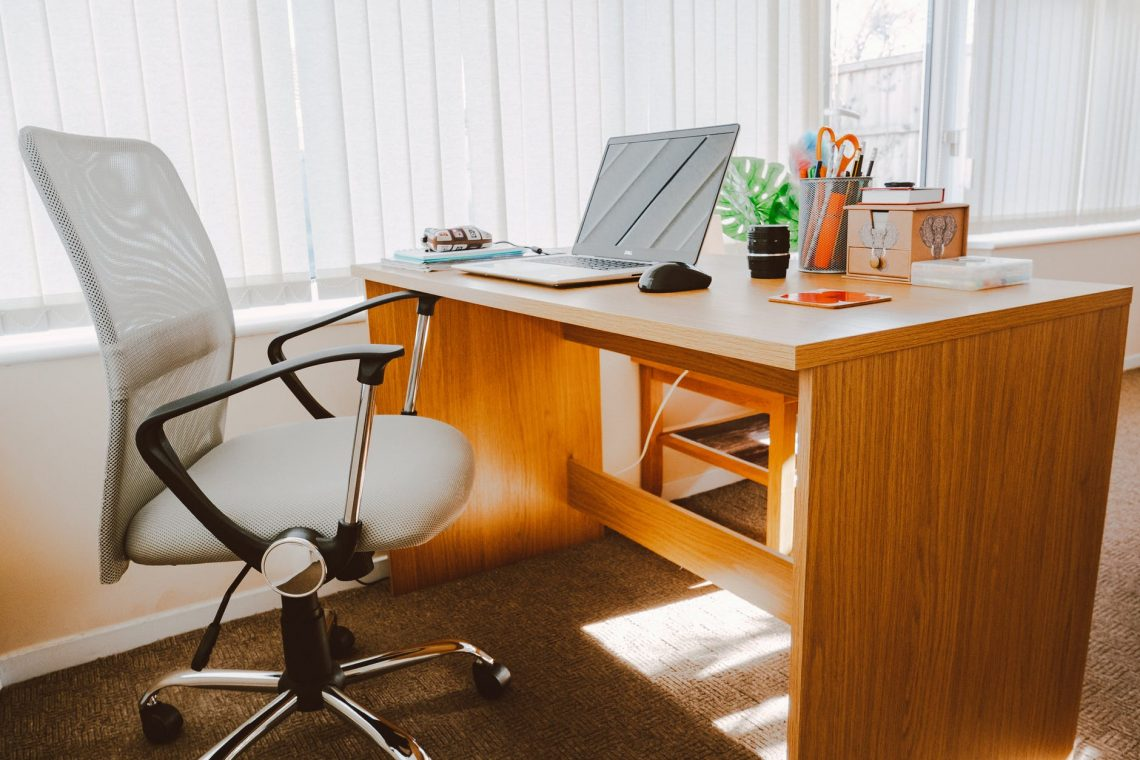 office chair in a home office set up