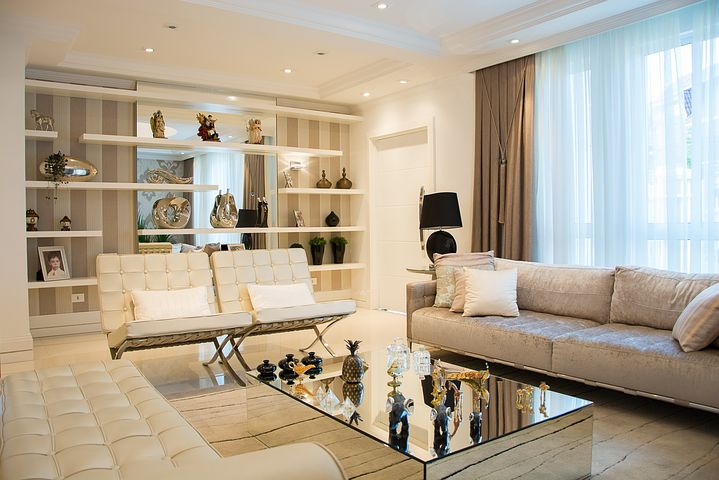 leather lounges in the living room